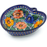 8-inch Stoneware Heart Shaped Bowl - Polmedia Polish Pottery H5180J
