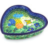 8-inch Stoneware Heart Shaped Bowl - Polmedia Polish Pottery H5778G