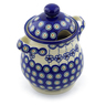 8-inch Stoneware Jar with Lid and Handles - Polmedia Polish Pottery H3187J