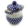 8-inch Stoneware Jar with Lid and Handles - Polmedia Polish Pottery H3188J