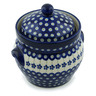8-inch Stoneware Jar with Lid and Handles - Polmedia Polish Pottery H4136I