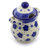8-inch Stoneware Jar with Lid and Handles - Polmedia Polish Pottery H4244J