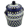 8-inch Stoneware Jar with Lid and Handles - Polmedia Polish Pottery H4277E