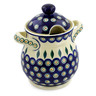 8-inch Stoneware Jar with Lid and Handles - Polmedia Polish Pottery H6479J