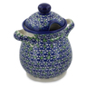 8-inch Stoneware Jar with Lid and Handles - Polmedia Polish Pottery H7544K