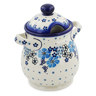 8-inch Stoneware Jar with Lid and Handles - Polmedia Polish Pottery H7545K