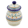 8-inch Stoneware Jar with Lid - Polmedia Polish Pottery H0386K