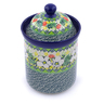 8-inch Stoneware Jar with Lid - Polmedia Polish Pottery H3320J