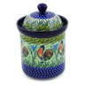 8-inch Stoneware Jar with Lid - Polmedia Polish Pottery H3593K