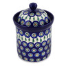 8-inch Stoneware Jar with Lid - Polmedia Polish Pottery H6152A