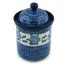 8-inch Stoneware Jar with Lid - Polmedia Polish Pottery H6176B