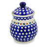 8-inch Stoneware Jar with Lid - Polmedia Polish Pottery H6421J