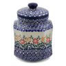 8-inch Stoneware Jar with Lid - Polmedia Polish Pottery H6709K