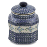8-inch Stoneware Jar with Lid - Polmedia Polish Pottery H6765K