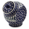 8-inch Stoneware Jar with Lid - Polmedia Polish Pottery H6809K