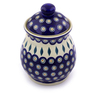 8-inch Stoneware Jar with Lid - Polmedia Polish Pottery H7015I