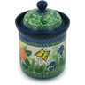 8-inch Stoneware Jar with Lid - Polmedia Polish Pottery H7382G