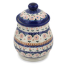 8-inch Stoneware Jar with Lid - Polmedia Polish Pottery H7683K