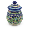 8-inch Stoneware Jar with Lid - Polmedia Polish Pottery H7693K