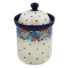 8-inch Stoneware Jar with Lid - Polmedia Polish Pottery H8238J
