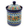 8-inch Stoneware Jar with Lid - Polmedia Polish Pottery H8239J