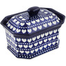 8-inch Stoneware Jar with Lid - Polmedia Polish Pottery H8668K