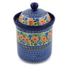 8-inch Stoneware Jar with Lid - Polmedia Polish Pottery H8703A