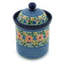 8-inch Stoneware Jar with Lid - Polmedia Polish Pottery H9008A