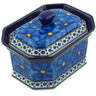 8-inch Stoneware Jar with Lid - Polmedia Polish Pottery H9263I