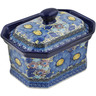 8-inch Stoneware Jar with Lid - Polmedia Polish Pottery H9264I