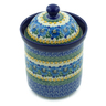 8-inch Stoneware Jar with Lid - Polmedia Polish Pottery H9318A