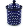 8-inch Stoneware Jar with Lid - Polmedia Polish Pottery H9830E