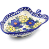 8-inch Stoneware Leaf Shaped Bowl - Polmedia Polish Pottery H0714F