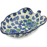 8-inch Stoneware Leaf Shaped Bowl - Polmedia Polish Pottery H4437L
