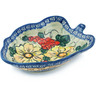 8-inch Stoneware Leaf Shaped Bowl - Polmedia Polish Pottery H5438F