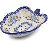 8-inch Stoneware Leaf Shaped Bowl - Polmedia Polish Pottery H6578F