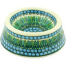 8-inch Stoneware Pet Bowl - Polmedia Polish Pottery H5639G