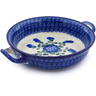 8-inch Stoneware Round Baker with Handles - Polmedia Polish Pottery H0660J
