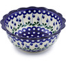 8-inch Stoneware Scalloped Bowl - Polmedia Polish Pottery H0910B