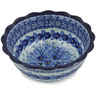 8-inch Stoneware Scalloped Bowl - Polmedia Polish Pottery H1641L