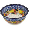 8-inch Stoneware Scalloped Bowl - Polmedia Polish Pottery H1702L