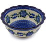 8-inch Stoneware Scalloped Bowl - Polmedia Polish Pottery H5029A