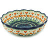 8-inch Stoneware Scalloped Fluted Bowl - Polmedia Polish Pottery H1330H