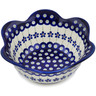 8-inch Stoneware Scalloped Fluted Bowl - Polmedia Polish Pottery H1334L