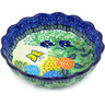8-inch Stoneware Scalloped Fluted Bowl - Polmedia Polish Pottery H3631G