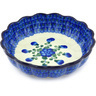 8-inch Stoneware Scalloped Fluted Bowl - Polmedia Polish Pottery H4781G
