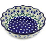 8-inch Stoneware Scalloped Fluted Bowl - Polmedia Polish Pottery H5512G