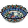 8-inch Stoneware Scalloped Fluted Bowl - Polmedia Polish Pottery H8476J