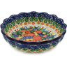 8-inch Stoneware Scalloped Fluted Bowl - Polmedia Polish Pottery H8477J