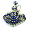 8-inch Stoneware Seasoning Set - Polmedia Polish Pottery H6935K